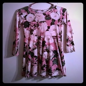Pastwl pink floral dress